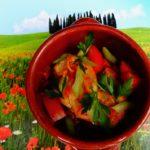 Maandag 10 december paddenstoelenrisotto, tomatensalade en tiramisu