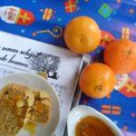 Maandag 3 december stevige erwtensoep en Sint-cake met pompoen